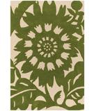 RugStudio presents Chandra Thomas Paul - Tufted Pile Zinnia Grass-Cream ZIGC Hand-Tufted, Good Quality Area Rug