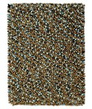 RugStudio presents Classic Home Mixed Shaggy Chocolate-Blue 300-3035 Area Rug