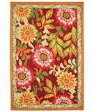 RugStudio presents Classic Home Loop-Tufted Gigi Burgundy 300-3795 Hand-Tufted, Good Quality Area Rug