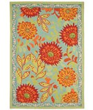 RugStudio presents Classic Home Loop-Tufted Gigi Turquoise 300-3796 Hand-Tufted, Good Quality Area Rug