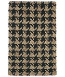 RugStudio presents Classic Home Houndstooth . Black 300-3814 Sisal/Seagrass/Jute Area Rug