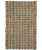 RugStudio presents Classic Home Braided Timberhitch Charcoal-Natural 300-6500 Sisal/Seagrass/Jute Area Rug