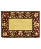 RugStudio presents Classic Home Hand-Stenciled Avignon Burgundy 300-6947 Sisal/Seagrass/Jute Area Rug