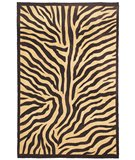 RugStudio presents Classic Home Hand-Stenciled Zebra 300-6974 Sisal/Seagrass/Jute Area Rug
