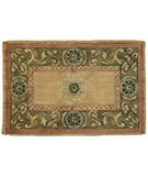 RugStudio presents Classic Home Hand-Stenciled Medallion Sage 300-6981 Sisal/Seagrass/Jute Area Rug