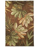 RugStudio presents Classic Home Outdoor Tropical Palms Chocolate 301-7008 Hand-Hooked Area Rug