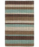 RugStudio presents Classic Home Rope Braided Stripe Metro 300-7423 Sisal/Seagrass/Jute Area Rug