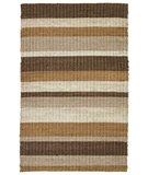 RugStudio presents Classic Home Rope Braided Stripe Tropical Cocoa Blend 300-7424 Sisal/Seagrass/Jute Area Rug