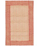 RugStudio presents Classic Home Braided Jute Border Diamond Red-Natural 300-7462 Sisal/Seagrass/Jute Area Rug