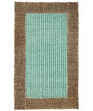 RugStudio presents Classic Home Braided Jute Border Diamond Turquoise-Chocolate 300-7463 Sisal/Seagrass/Jute Area Rug