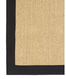 RugStudio presents Classic Home Pampas Cotton Border Black 300-7725 Sisal/Seagrass/Jute Area Rug