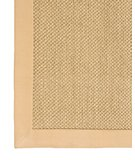RugStudio presents Classic Home Pampas Cotton Border Khaki 300-7726 Sisal/Seagrass/Jute Area Rug