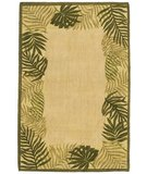 RugStudio presents Classic Home Hand-Stenciled Palm Frame 300-7918 Sisal/Seagrass/Jute Area Rug