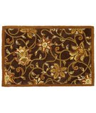 RugStudio presents Classic Home Hand-Stenciled Flower Brown 300-7990 Sisal/Seagrass/Jute Area Rug