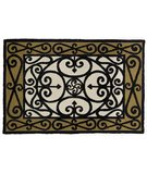 RugStudio presents Classic Home Hand-Stenciled Iron Gate 300-7997 Sisal/Seagrass/Jute Area Rug