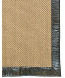 RugStudio presents Classic Home Pampas Leather Border Coffee 300-7810 Sisal/Seagrass/Jute Area Rug