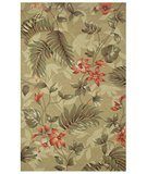RugStudio presents Classic Home Outdoor Tropical Leaves 301-7003 Area Rug