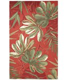 RugStudio presents Classic Home Outdoor Tropical Palms Rust 301-70070 Area Rug