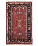 RugStudio presents Classic Home Europa Kilim AE 4792 Red 400-1120 Flat-Woven Area Rug