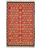 RugStudio presents Classic Home Sara Kilim AE 4860 Red 400-1121 Flat-Woven Area Rug