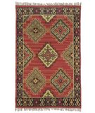 RugStudio presents Classic Home Sara Kilim 036 Red 400-1123 Flat-Woven Area Rug