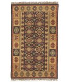RugStudio presents Classic Home Sara Kilim 032 Brown 400-1124 Flat-Woven Area Rug