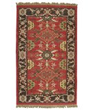 RugStudio presents Classic Home Europa Kilim 034 Red 400-1442 Flat-Woven Area Rug