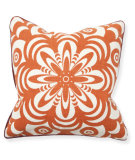 RugStudio presents Classic Home Villa Bohemian Chic V050134 Flower Burst Orange