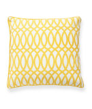 RugStudio presents Classic Home Villa Green Fields V250176 Geo Yellow Cotton