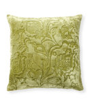 RugStudio presents Classic Home Villa Green Fields V250282 Velvet Matelasse Green