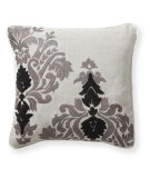 RugStudio presents Classic Home Villa Baroque & Roll V250367 Silver Grey / Black