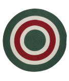 RugStudio presents Colonial Mills Boldly Banded Bb00 Red White & Green Braided Area Rug