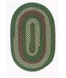 RugStudio presents Colonial Mills Brook Farm BF62 Winter Green Braided Area Rug