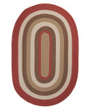 RugStudio presents Colonial Mills Brooklyn BN79 Terracotta Braided Area Rug