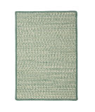 RugStudio presents Colonial Mills Cadence Ca21 Teal Green Mix Braided Area Rug