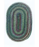 RugStudio presents Colonial Mills Chestnut Knoll CK67 Thyme Green Braided Area Rug