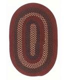 RugStudio presents Colonial Mills Deerfield DF81 Deep Russet Braided Area Rug