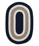 RugStudio presents Colonial Mills Flowers Bay Fb52 Navy Braided Area Rug