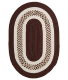 RugStudio presents Colonial Mills Flowers Bay Fb81 Brown Braided Area Rug