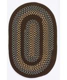 RugStudio presents Colonial Mills Georgetown GT40 Fudge Brown Braided Area Rug