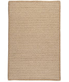 RugStudio presents Colonial Mills Natural Wool Houndstooth HD33 Tea Braided Area Rug