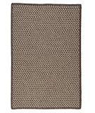 RugStudio presents Colonial Mills Natural Wool Houndstooth HD36 Espresso Braided Area Rug