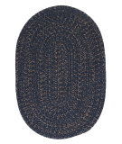 RugStudio presents Colonial Mills Hayward Hy59 Navy Braided Area Rug