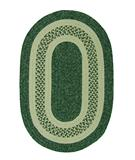 RugStudio presents Colonial Mills Jefferson J602 Evergreen Braided Area Rug