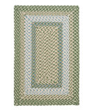RugStudio presents Colonial Mills Montego Mg19 Lily Pad Green Braided Area Rug