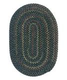RugStudio presents Colonial Mills Midnight MN66 Deep Forest Braided Area Rug