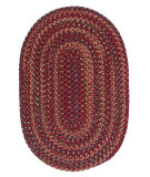 RugStudio presents Colonial Mills Midnight Mn87 Burnt Brick Braided Area Rug