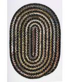 RugStudio presents Colonial Mills Montage MT40 Ebony Braided Area Rug
