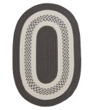 RugStudio presents Colonial Mills Crescent Nt11 Gray Braided Area Rug