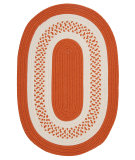 RugStudio presents Colonial Mills Crescent Nt21 Orange Braided Area Rug